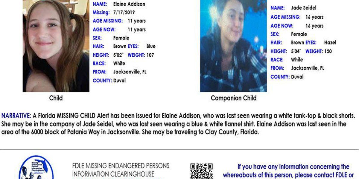 FDLE Missing child alert for 11-year-old girl