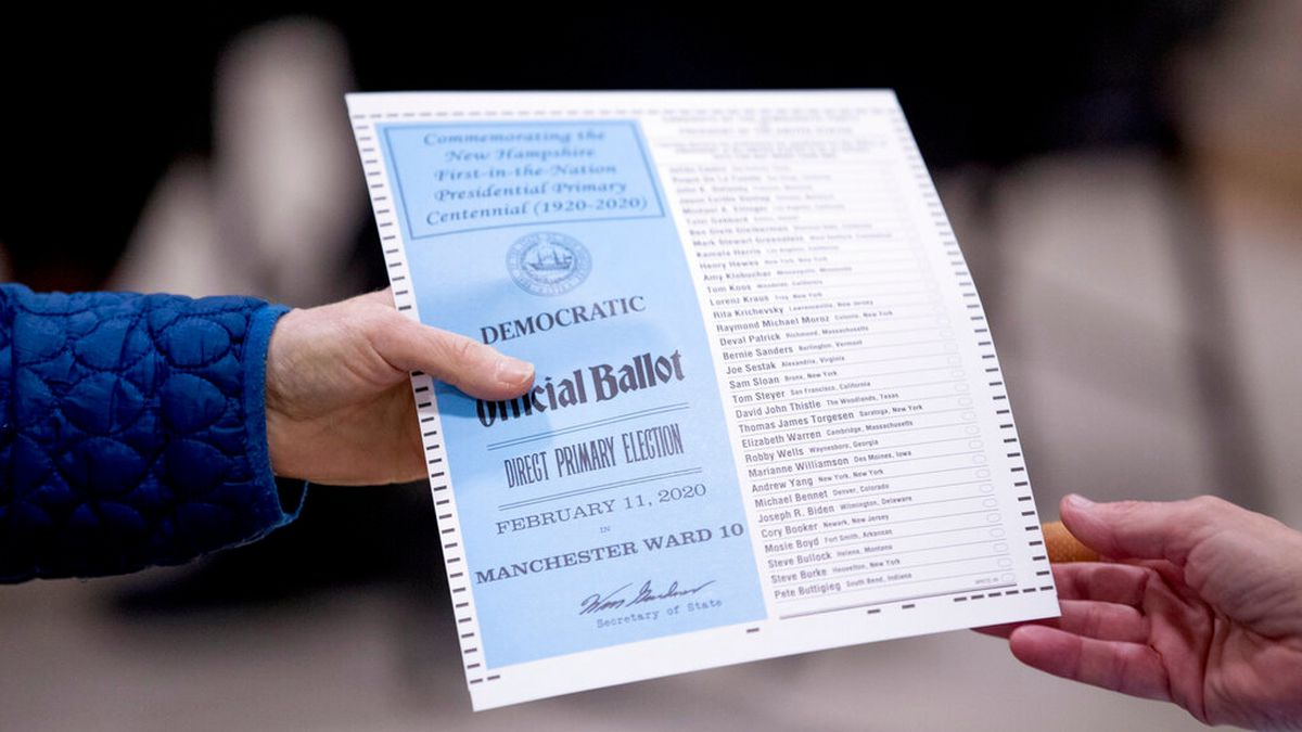 New Hampshire primary: No high-tech apps to fail, good old paper, pencils are used to vote