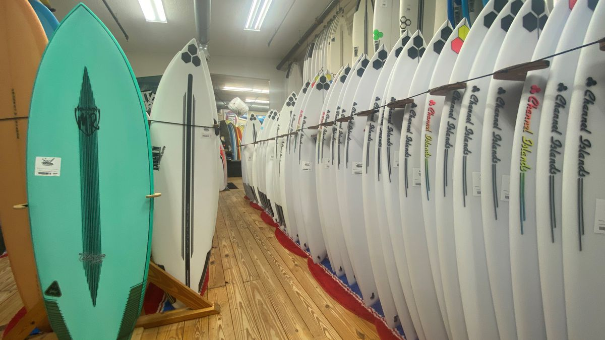 Isaias bringing lots of business for local surf shops