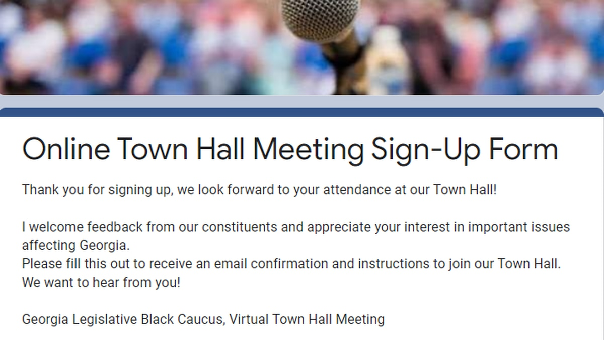 Sign up to attend virtual Georgia Black Caucus Town Hall