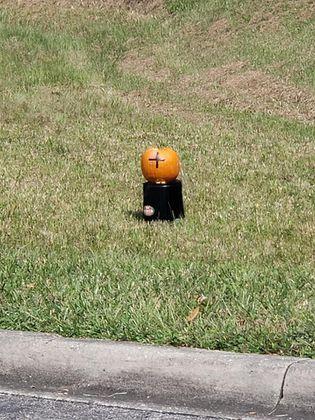 Starke police: Explosive materials found inside of pumpkin, bomb squad responding