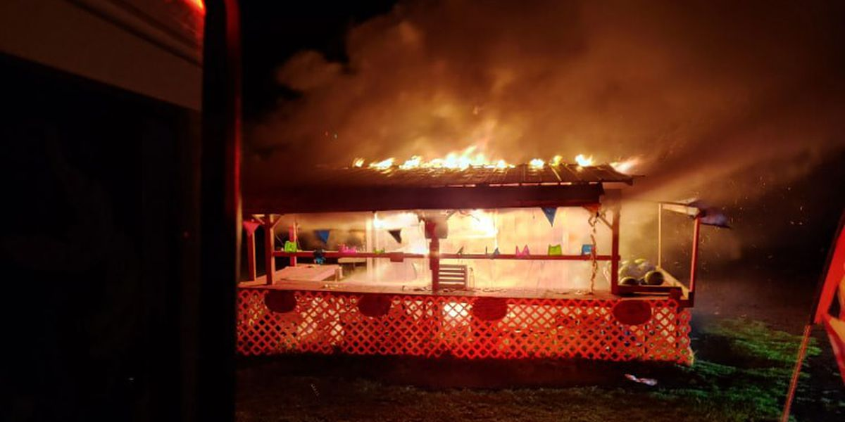 Bradford County: Fruit stand catches fire on US-301 north of Lawtey