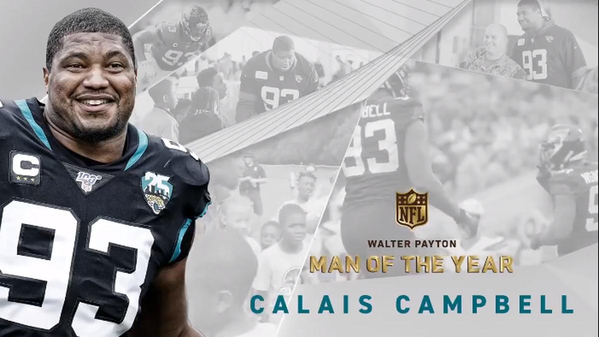 Jaguars' Calais Campbell wins Walter Payton Man of the Year Award