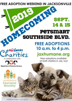 Jacksonville Humane Society hosts free adoption event