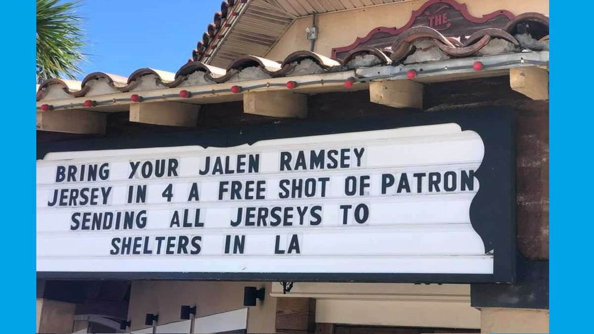 The Shim Sham Room offering Patron shots in exchange for Jalen Ramsey jerseys