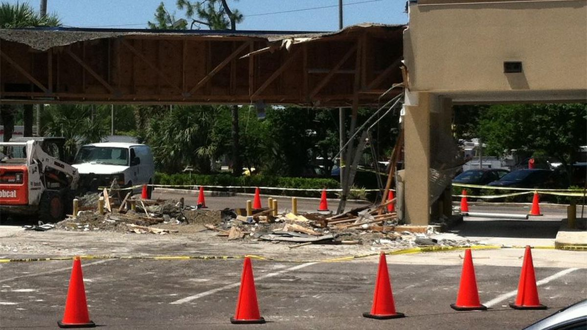 Wells Fargo roof collapse due to excessive ponding