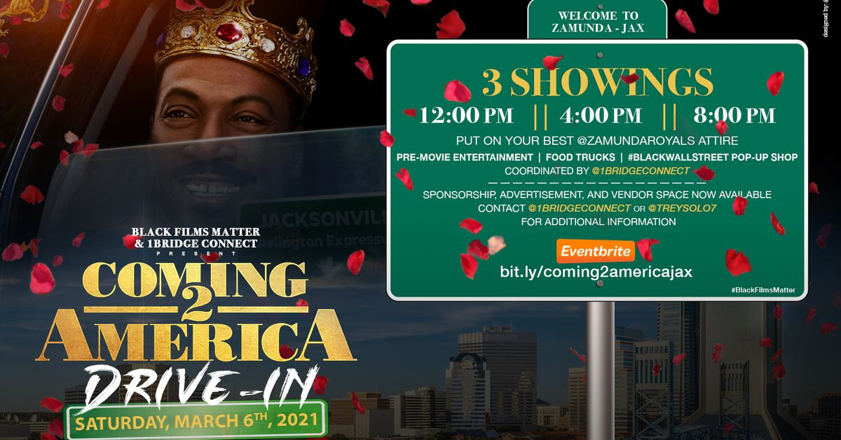 UPDATE: 8 p.m. show goes on after two drive-in screenings of 'Coming 2 America' were cancelled due to weather