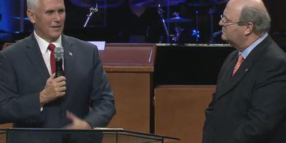 Gov. Mike Pence attends Jacksonville church service