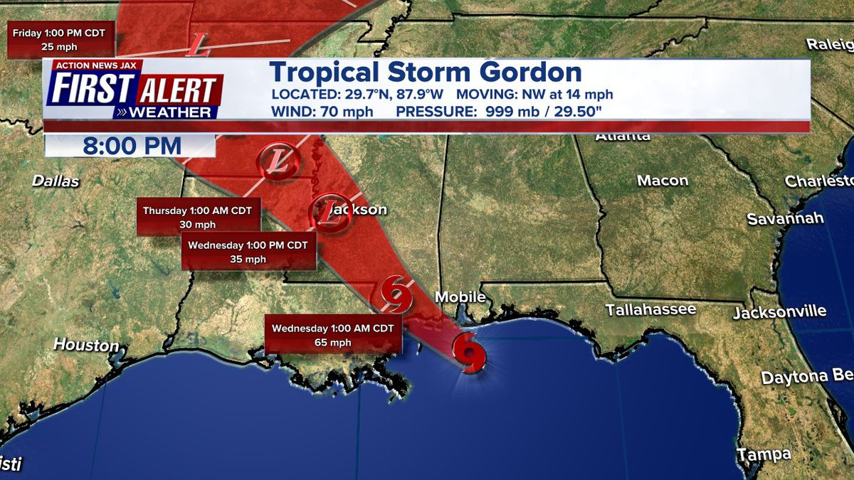 Tropical Storm Gordon causes the death of a child