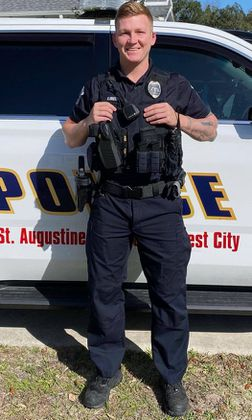 St. Augustine Police Officer saves man's life from drowning
