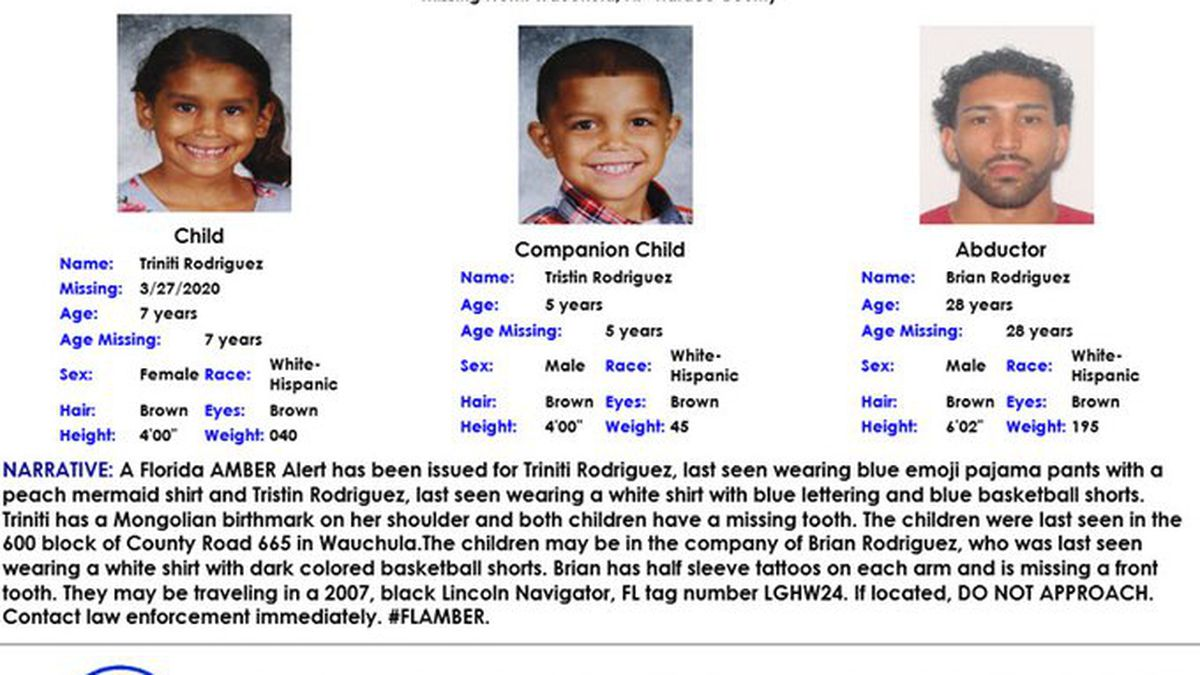 Amber Alert Cancelled For Hardee County Children Found Safe