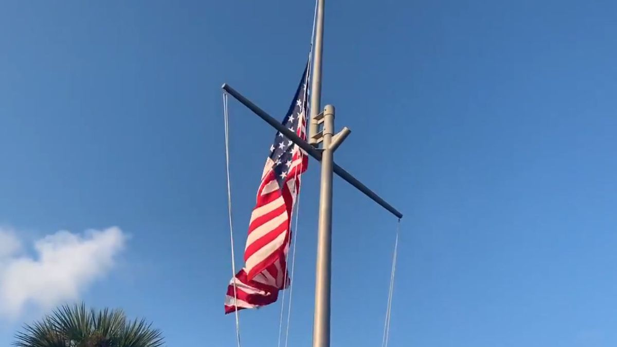 Naval Station Mayport raises flag in honor of 9/11 victims