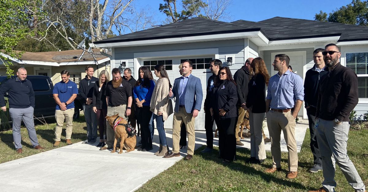 Local Army veteran and his service dog receive new home