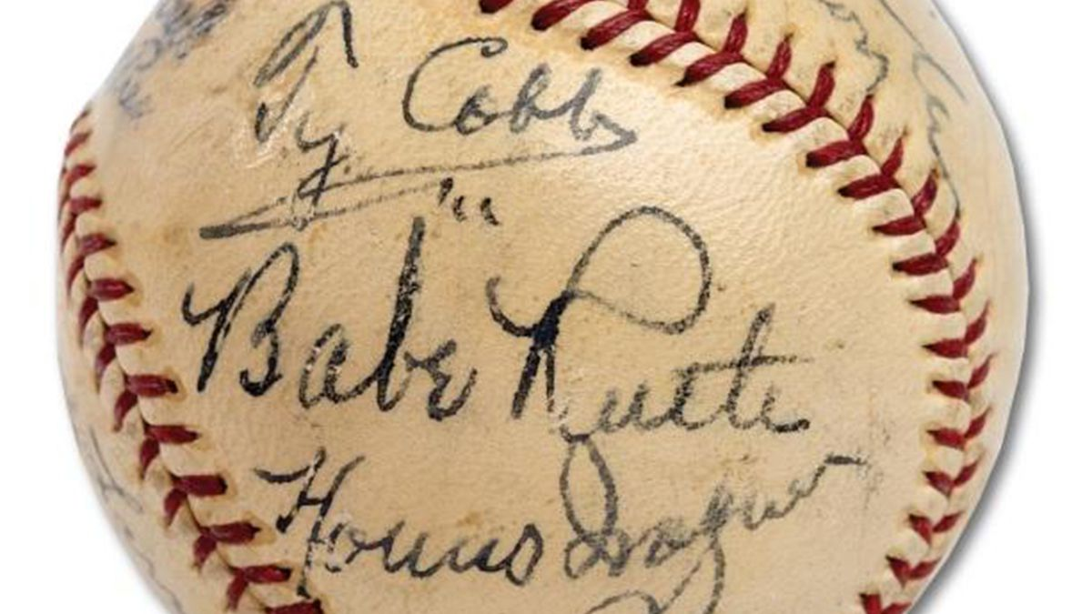 Autographed baseball from first Hall of Fame class fetches record $623K