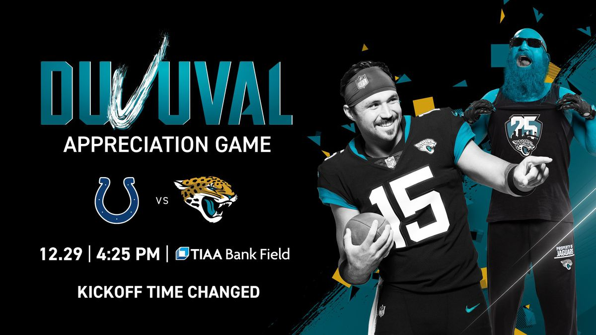 Last Jaguars game of season: Kickoff moved to 4:25 p.m.
