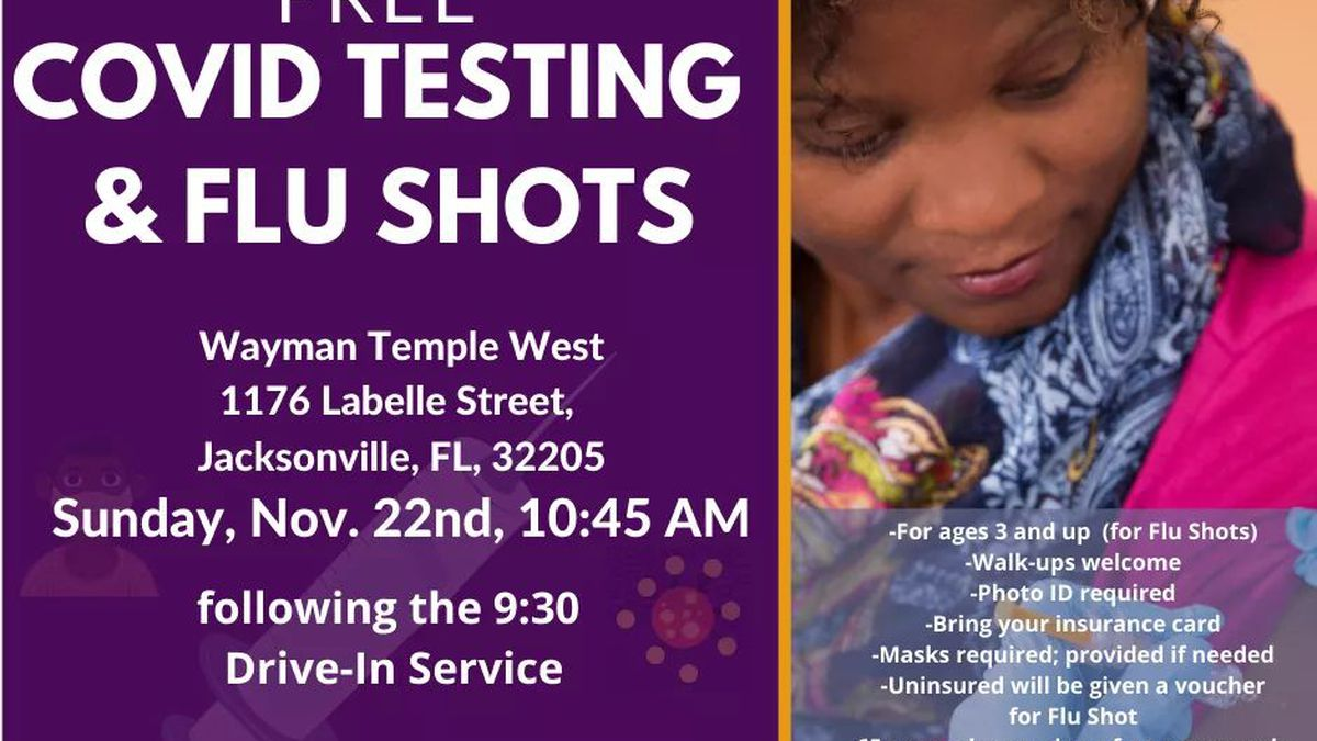 COVID-19 testing and Flu shots at Wayman Temple has been canceled