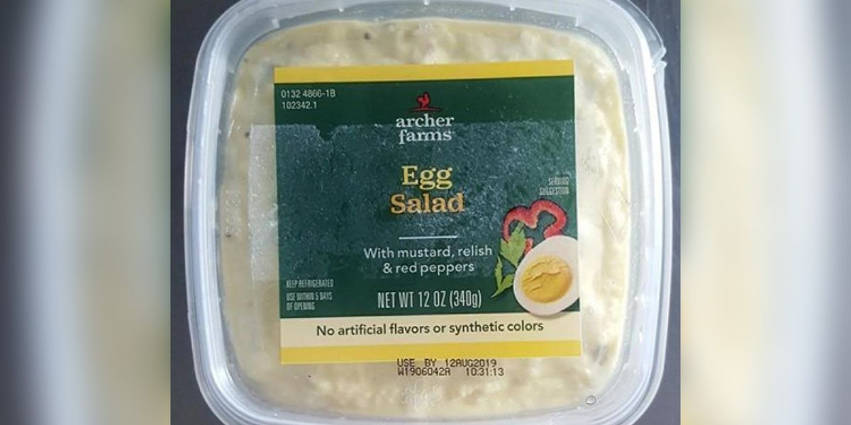 Recall issued for certain sandwiches and salads sold at Target and The Fresh Market