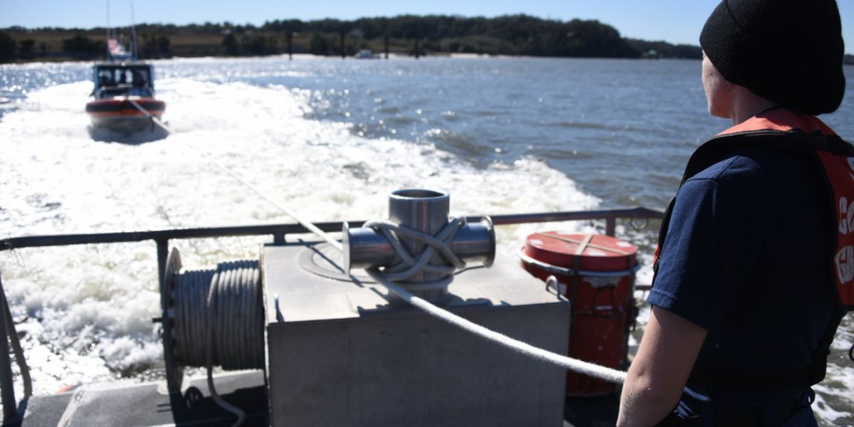 Fisherman rescued by Coast Guard and Navy off the coast of Jacksonville
