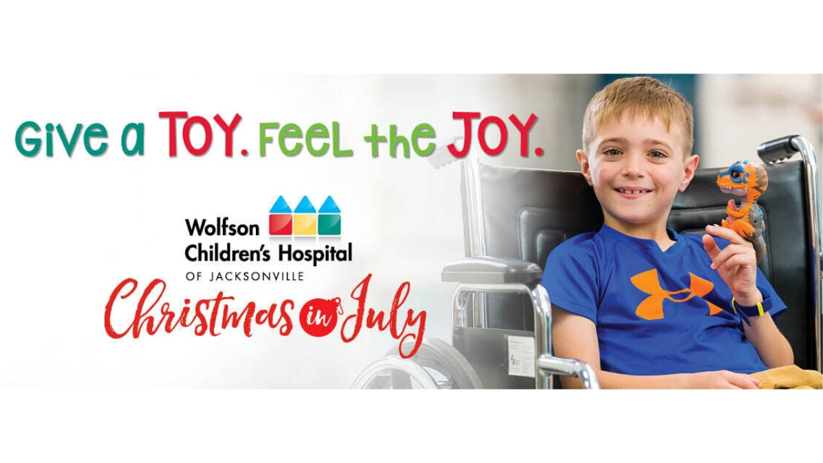 Bring joy, healing to Wolfson Children's Hospital patients of all ages with just a few clicks during VIRTUAL Christmas in July