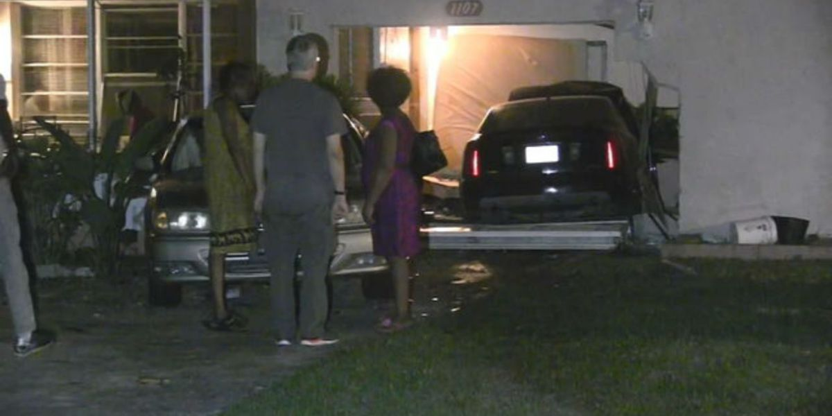 Stolen car crashes into home after being chased by stolen deputy cruiser, police say