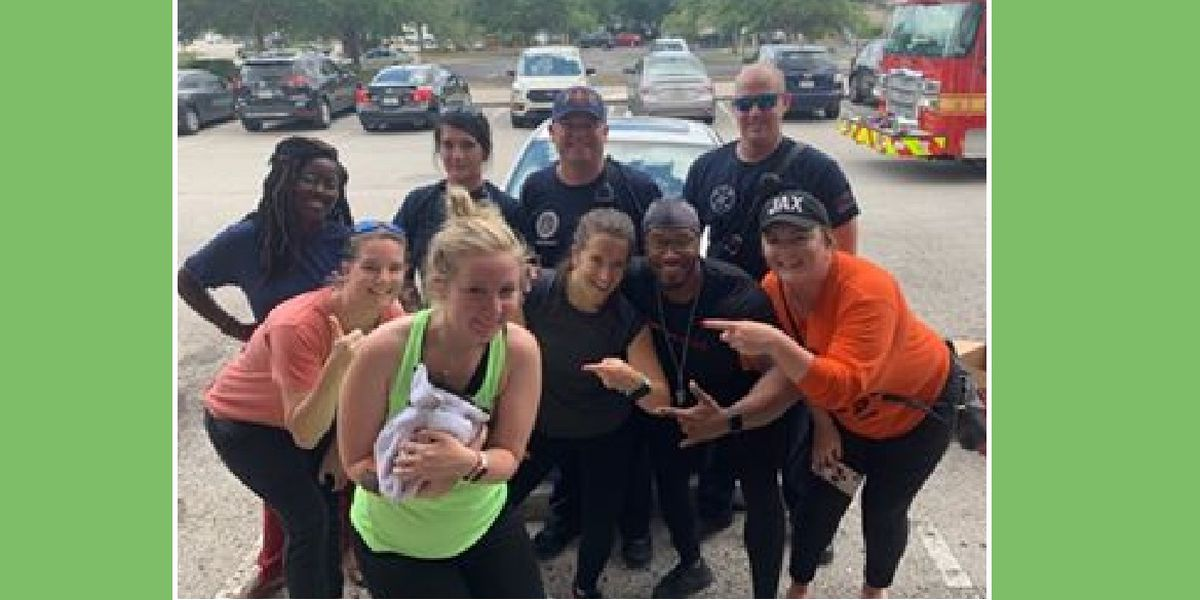 JFRD Engine 72 helps rescue kitten from car at Orange Theory Fitness