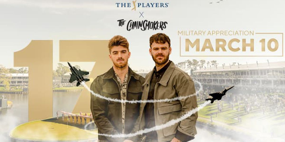THE PLAYERS Championship: The Chainsmokers to perform at Military Appreciation Day Ceremony