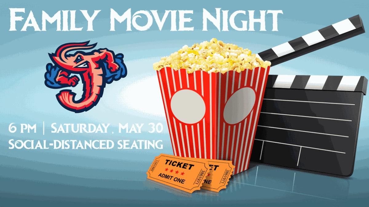 Jacksonville Jumbo Shrimp hosting Family Movie Night on Saturday